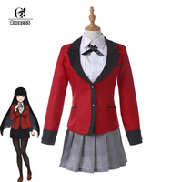 ROLECOS Japanese Anime Kakegurui Cosplay Costume Jabami Yumeko Cosplay Costume Compulsive Gambler Girl School Uniform for Women