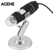 Sale ACEHE Electronics 5MP USB 8 LED Digital Camera Microscope Endoscope Magnifier 50X~500X Magnification Measure free shipping