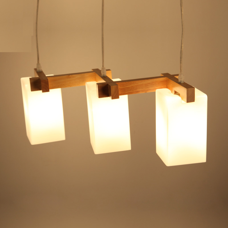 Japanese Solid wood DIY restaurant LED pendant lamp Modern brief home deco living room bar glass pendant light fixture modern brief creative wood cone pendant light fixture home deco dinning room and restaurant e27 pendant lamp