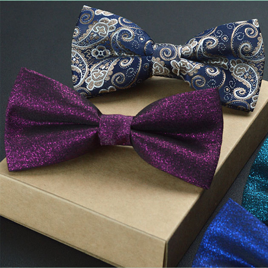 New Hot Sle Mens Business Clothing Accessories Solid Color Bow Tie for Wedding Adjustable Bowknot High Quality TJ174187
