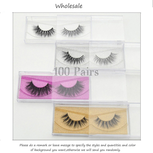 Image 1 - Free DHL 100 Pairs 3D Real Mink Eyelashes Wholesale HandMade Thick Natural Long False Eye Lashes Extension Makeup 33 Styles Lash