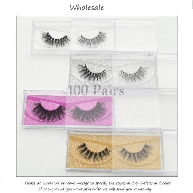 Free DHL 100 Pairs 3D Real Mink Eyelashes Wholesale HandMade Thick Natural Long False Eye Lashes Extension Makeup 33 Styles Lash