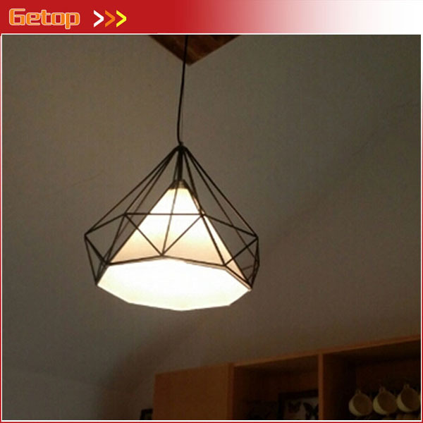 Best price modern diamond chandeliers wrought iron birdcage vintage best price modern diamond chandeliers wrought iron birdcage vintage chandelier creative pyramid single head lights art mozeypictures Images