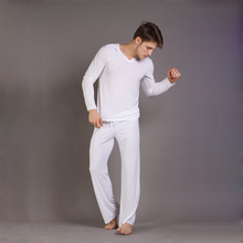 Sexy Men s Yoga Twinset N2N Tops Pants Comfortable Ice Pajamas Sets Men Sleepwear Home Pyjamas