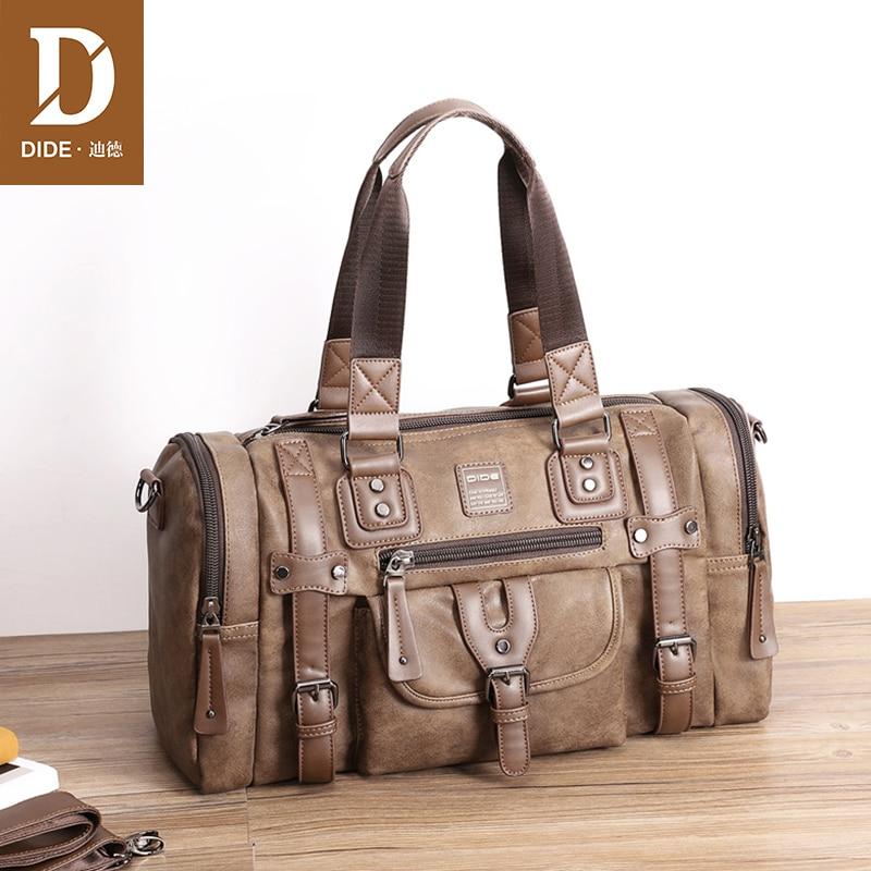 DIDE 2018 Brand Design Fashion Handbag Boston Men Messenger Bag Male Shoulder Hand bags Business Travel