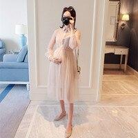 Pregnant women's clothes Spring fashion pregnancy dress Korean version marternity dress two sets pregnant dresses for women