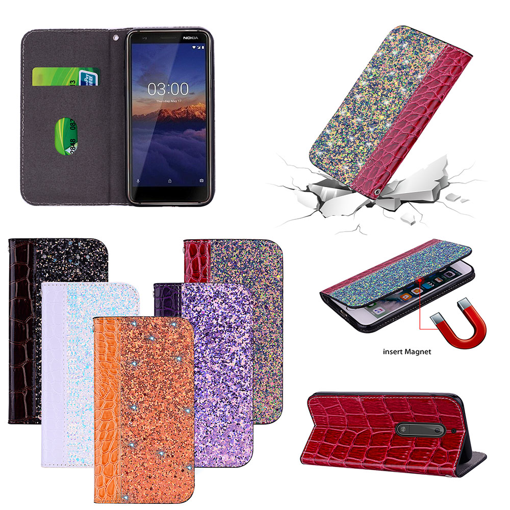Flip Luxury fashion for Nokia5 TA <font><b>1053</b></font> 1008 Case for <font><b>Nokia</b></font> 5 2017 TA-<font><b>1053</b></font> TA-1008 case Phone Flip Stitching leather Cover bag image