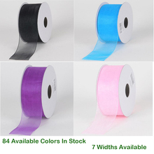 Solid Sheer Organza Ribbon 3/8 9mm 5/816mm 125 MM 1-1/2 38mm 2 50 3 75 Handmade Wedding DIY Crafts Tape