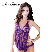 Au Reve Hot Womens Sexy Lingerie Erotic Nightwear Leotard Uniform Home Teddy Clothing font b Dress