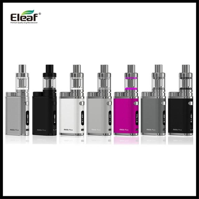 Hakiki Eleaf iStick 75 W Pico TC Starter Kit Mini 2 ml Atomier Buharlaştırıcı Firmware Yükseltilebilir mini eleaf e sigara kiti