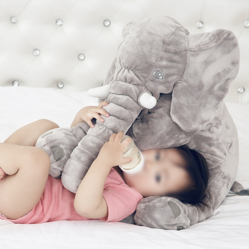 Elephant Stuffed Animal Plush Toy for Children Kids Grey Baby Bed Pillow Cushion stuffed animal 70cm blue