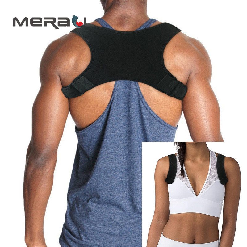 Corretor De Postura Faixa Preta Feminino Masculino Colete de Volta Correto Postura Corset Osso Cuidados de Saúde Dispositivo Alisador de Nova Moda