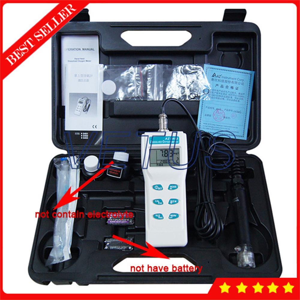 AZ8403 Portable Oxygen analyzer meter water aquaculture content oxygen detect concentration Water Dissolved Oxygen MeterAnalyzer цена