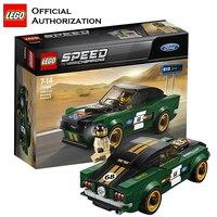 LEGO Building Bricks DIY Toy Speed Champion Ford Mustang Super Sport Car Creative Blocks Lego Bricks Toy For Children Brinquedos