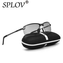 2017 All-Weather Ray Brand New Designer Photochromic Sunglasses Men Polarized Fashion Discoloration Driving Vintage Eyewear Lens