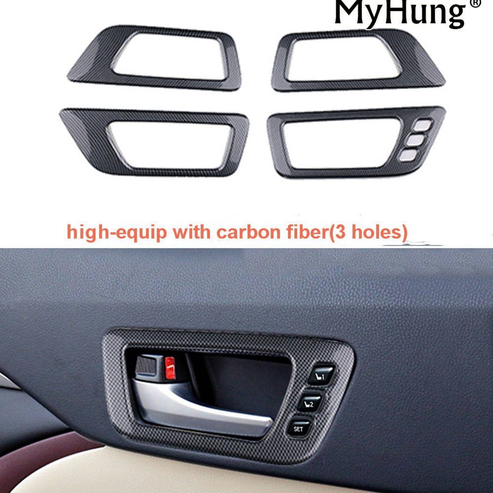 For Toyota Highlander Kluger 2015 2016 Car Door Handle Bowl Covers Electroplate Interior Decoration Car Accessories Car Styling