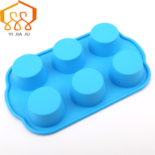 Diy 6 even Round cake cup / Maffin Cup Moussi West Dim Sum Mold Silicone Cake Tool Pudding Free Shipping