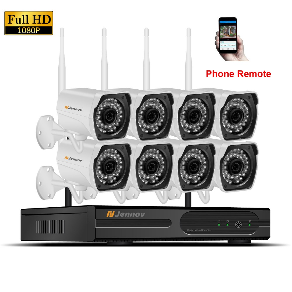 8CH 2MP CCTV Kit 1080P Home Wireless CCTV Security Camera System With NVR HD Wifi Video Outdoor Surveillance Kit APP Remote View 8ch cctv kit 960p home wireless cctv security camera system with nvr hd wifi video outdoor surveillance kit app remote view