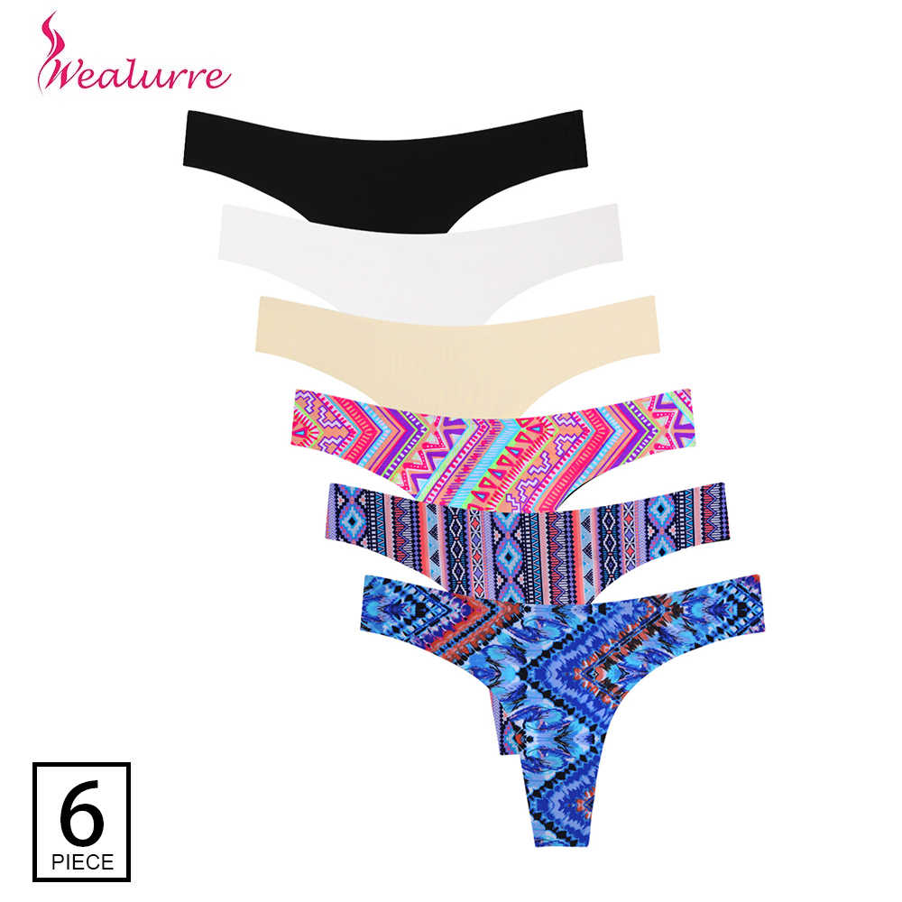 1ca6e387775 Wealurre 6Pcs Low Waist Seamless G-String Brief Women Sexy Female Ultrathin  Invisible Thongs G