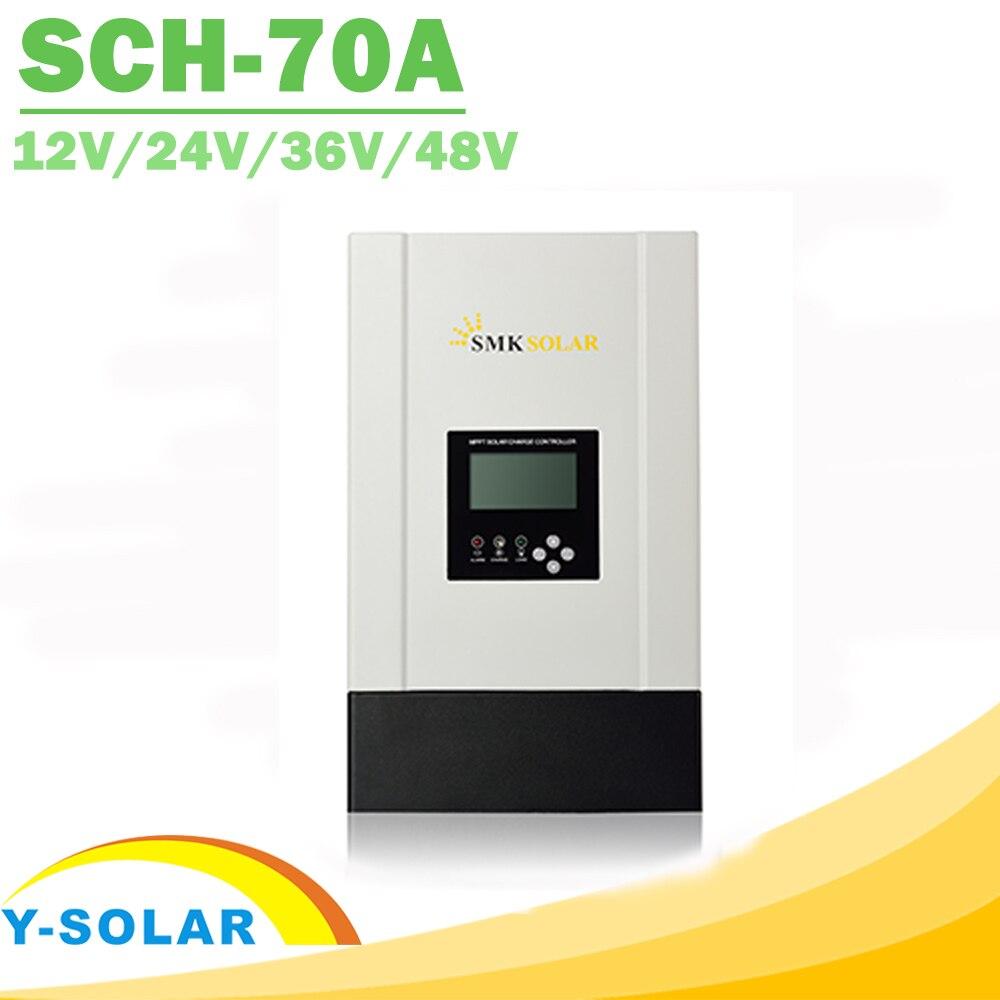 12V 24V 36V 48V 70A MPPT Solar Controller  for Max 150V LCD Solar Regulator with Heatsink Cooling RS485 Communication Port New 12v 24v 36v 48v 70a mppt solar controller for max 150v lcd solar regulator with heatsink cooling rs485 communication port new