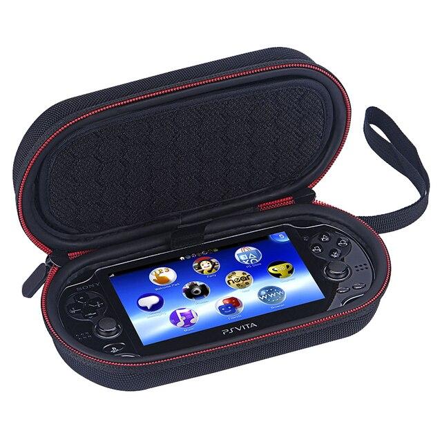 Futerał do przechowywania dla PS Vita Case 1000 2000 twardy futerał ochronny torba podróżna dla Sony PSV 1000 2000 Liboer BP100 gry torby