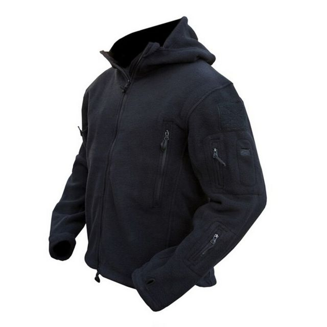 Men Fashion Winter Warm Fleece Hoody Parka Coat Tactical Military Jacket Outwear