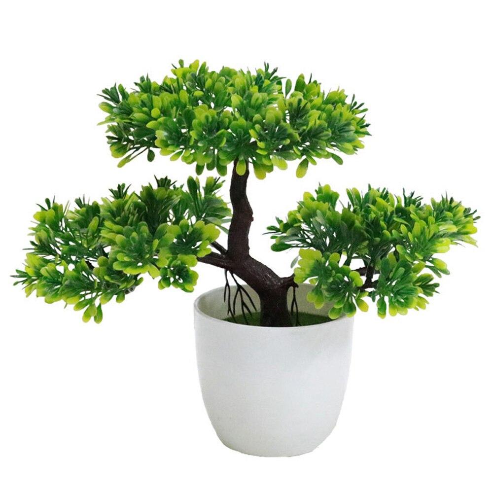 Искусственный бонсаи искусственные растения искусственные деревья растения искусственные растения Украшение домашний декор Мода Красивый балкон Ganoderma Lucidum - Цвет: green