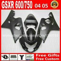 Бесплатно для кузов SUZUKI GSXR 600 750 плоский черный зализа 2004 2005 к4 RIZLA версия gsxr600 WXG 04 05 GSX R750 7 подарок 902