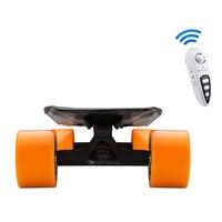 Электрический скейтборд 4 колеса электрический скутер для взрослых 90 мм колесо Longboard ролик E скутеры роликовый кол с пультом дистанционного
