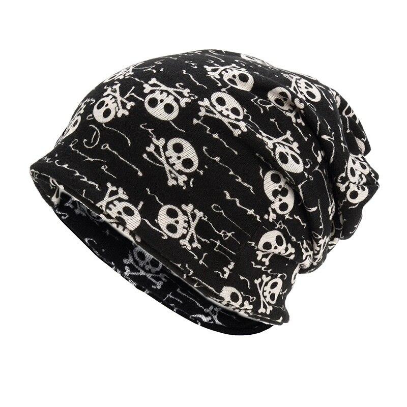 Unikevow шапки с черепом и воротничком, двухслойные многофункциональные шапки на осень и весну, шапки для женщин, мужские спортивные шапки для улицы, s - Цвет: Black