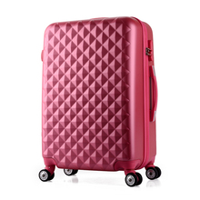 Wholesale!24inches abs+pc hardside travel luaggage bags on universal wheels,female pink green blue yellow purple trolley luggage
