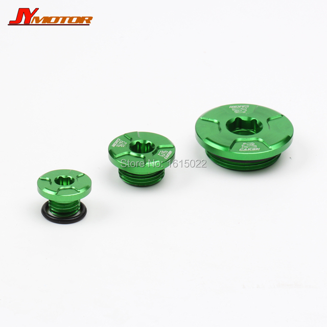 CNC Engine Timing Oil Filter Cap Oil Plug Set For KX250 KX250F KX450F KLX450R KFX450R Dirt Bike Motocross Off Road Enduro