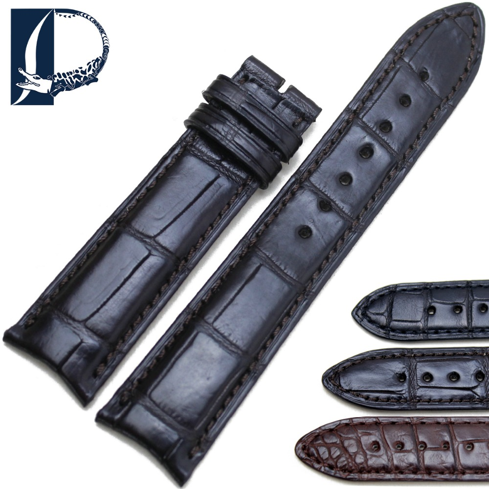 Pesno 20mm Soft Alligator Skin Leather Watch Band Strap Genuine Leather Watchband for Vacheron-Constantin