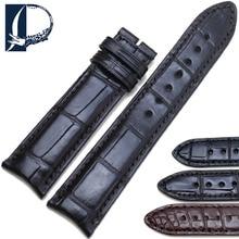 Pesno 20mm Soft Alligator Skin Leather Watch Band Strap Genuine Leather Watchband for Vacheron-Constantin