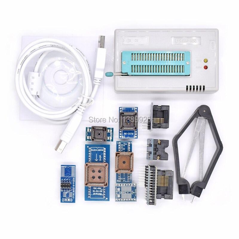 Free Shipping Mini Pro TL866II PLUS USB BIOS Universal Programmer Kit With 9 Pcs Adapter