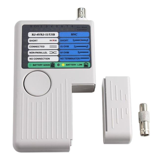 جديد عن بعد RJ11 RJ45 USB BNC LAN شبكة الكابل اختبار ل UTP STP كابلات LAN المقتفي الكاشف أعلى جودة أداة