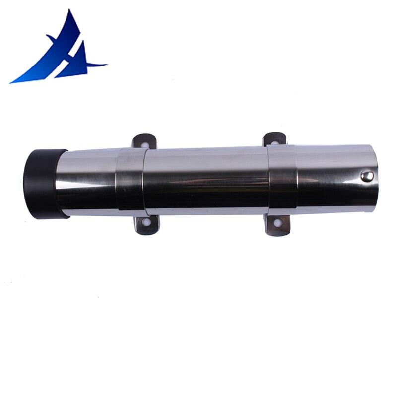 Stainless Steel Single Fishing Rod Holder Boat Kayak Rail Rod Rest Rack 32mm
