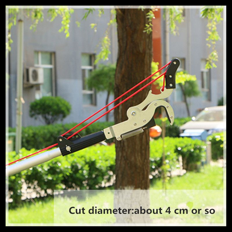 Outdoor high cut 5 m straight knife four pulley pruning scissors garden tools pruning tools цена