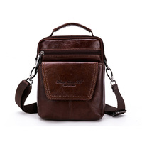 Brand Genuine Leather Small Casual Bussiness Bag Men S Handbag Shoulder Bags Messenger Bag Zipper Pack