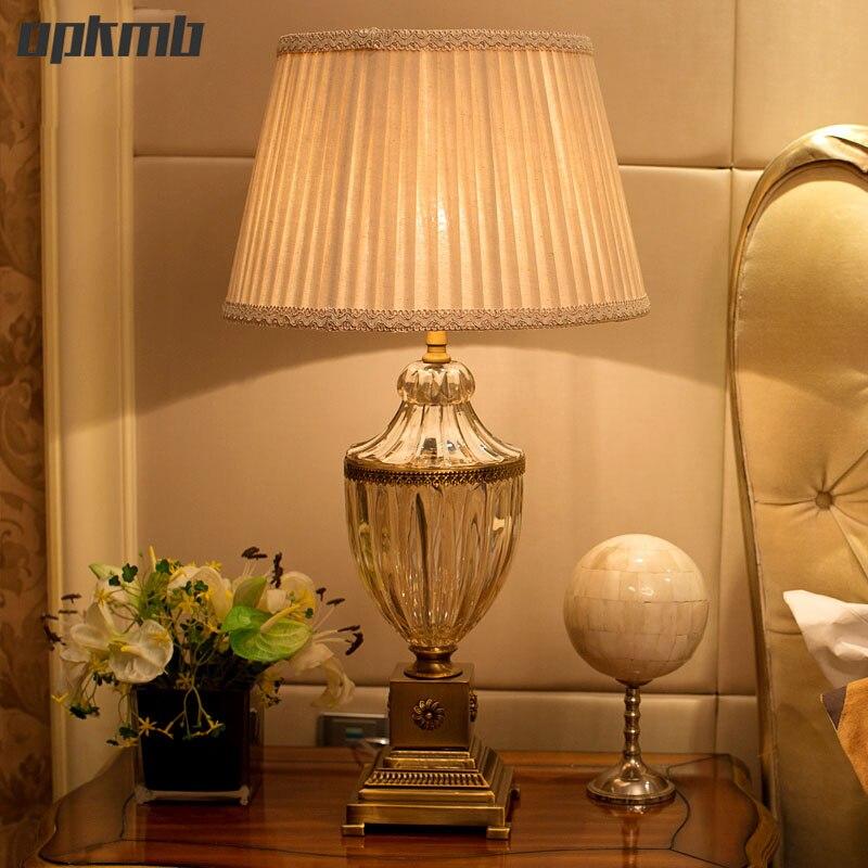 Stile europeo di cristallo lampada da tavolo per la camera da letto soggiorno decorazione di - Lampada per soggiorno ...