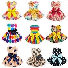 Гавайское Цветочное платье для собак, юбка для собак, летнее платье для собак, одежда для маленьких и средних собак, одежда для путешествий, чихуахуа, vestido cachorro