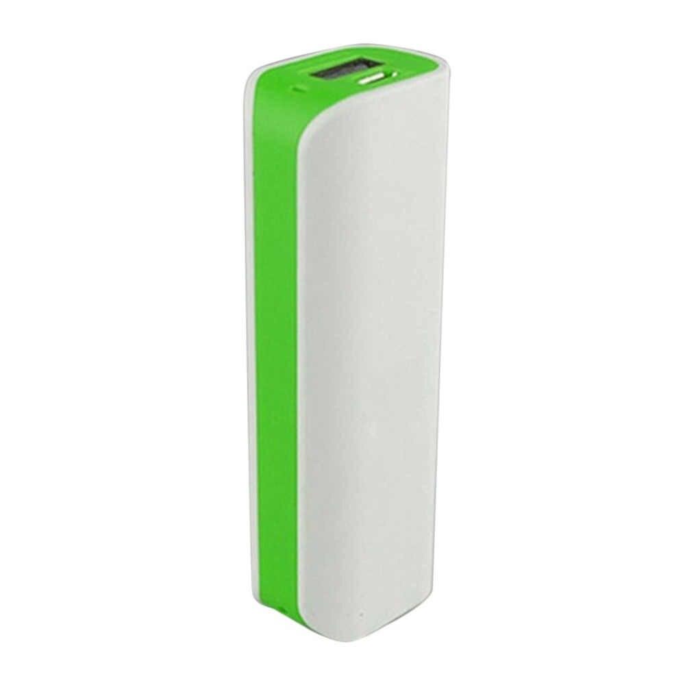 Coque de batterie externe verte soudure gratuite Ports USB batterie externe PCB chargeur boîtier bricolage Kits alimentés par 2600mAh 18650 batterie