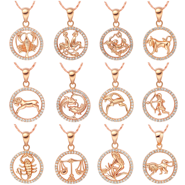 new necklace m scorpio collection zodiac the