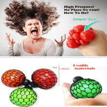 New 6cm Funny Grape Ball Vent Toy Anti Stress Face Reliever Squeeze Relief Healthy for Halloween April Fool Party Jokes Games