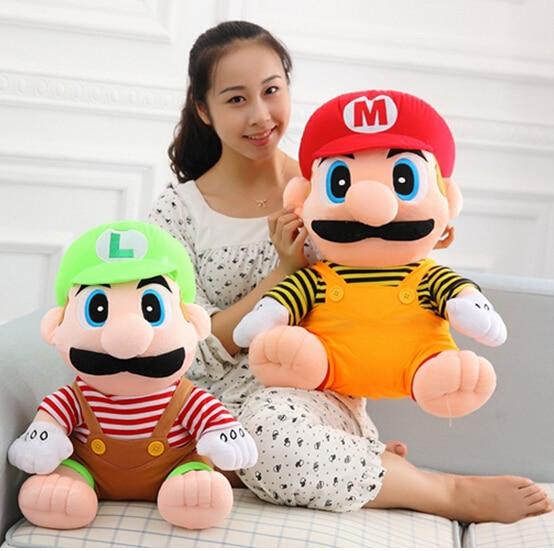55 cm 1pcs New Arrival Super Mario Plush Dolls Toys For Christmas Gift Retail ноутбук asus e402sa wx016t 14 0 intel celeron n3050 1 6ghz 2gb 32gb ssd 90nb0b63 m00780 black