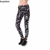Autumn Spring Plus Size Leggings Xxl 3xl 4xl Sexy Women White Black Dots Printed Soft Push