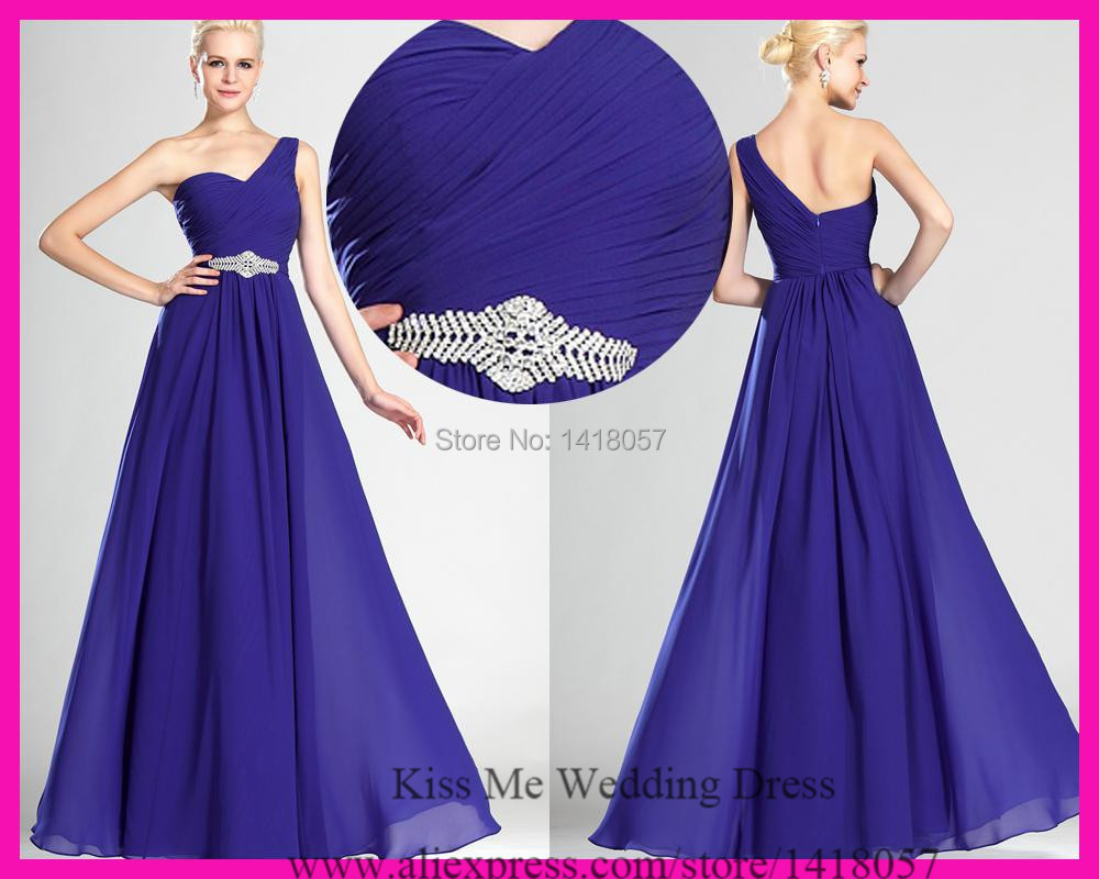 Compare prices on long bridesmaid dress one shoulder online 2015 free shipping purple bridesmaid dresses one shoulder pleat chiffon long wedding party dress b482 ombrellifo Images