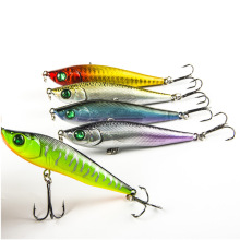 цены 80mm/15g Sinking Pencil Long Shot Sea Fishing Bait Bass Pike Carp Trolling Fishing Lures Isca Artificial Hard Baits Lure Pesca