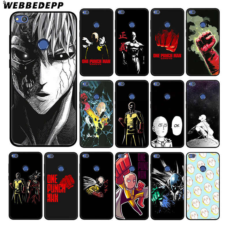 WEBBEDEPP One Punch Man Cartoon Soft Silicone Case for Huawei Honor Mate 20 10 8X 8C 8 6A 7A 7X 7C Lite Pro TPU