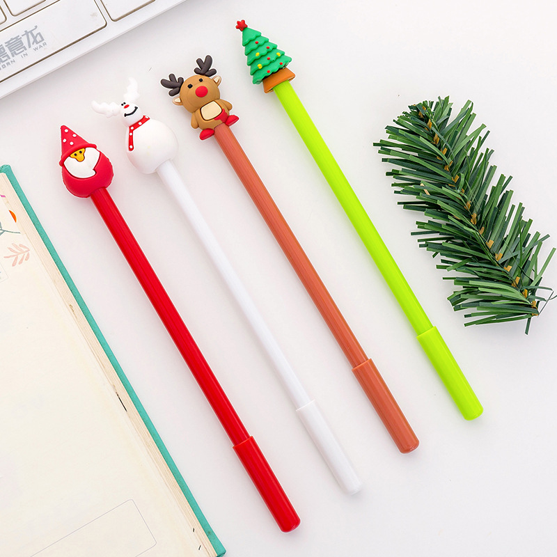 40 Pcs Christmas Gel Cute Santa Claus Pen For Writing School Office Christmas Gifts Cute Stationary Christmas Novelty Gel Pens